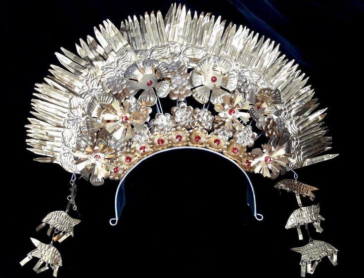 Crown Art Jewelry Padang Sumatra Headdress Adornment Wedding Ceremonial Hair Pin #Indonesianjeweler