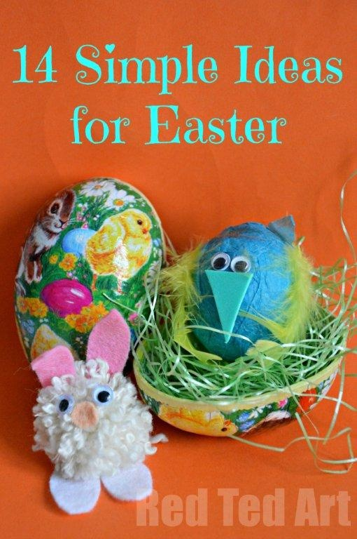 Simple Easter Ideas for Kids from Red Ted Art.