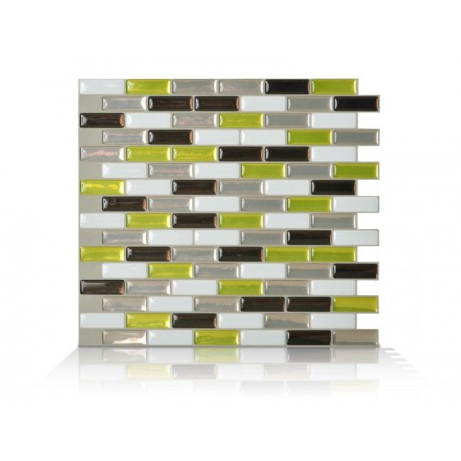 Smart Tiles In L And Stick Mosaic Decorative Tile Backsplash Murano Verde Spring Green Box Of 6 At The Home Depot Mobile