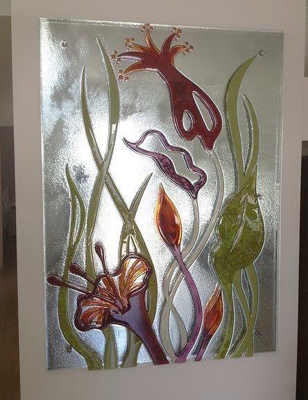Slumped hand painted glass wall art - Voodoo Glass, Gold Coast - http://www.voodooglass.com.au