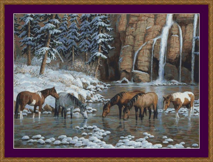 cross stitch patterns free printable   Spirit of the Rockies Counted Cross Stitch by PurpleStitching