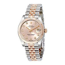 Rolex Datejust Lady 31 Pink Dial Stainless Steel and 18K Everose Gold Rolex Jubilee Automatic Watch 178271PDJ