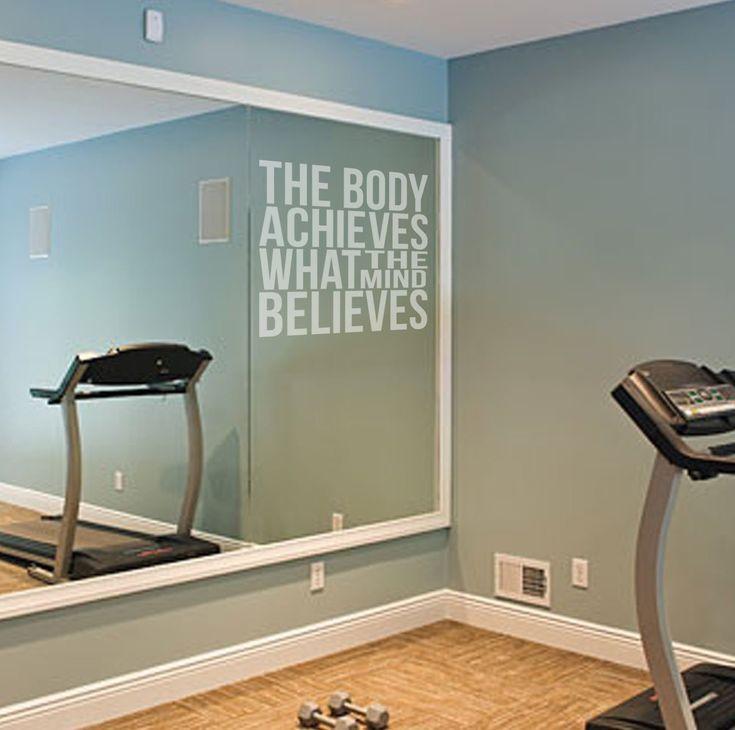 Der Körper erreicht Motivational Etch Effekt Vinyl Aufkleber Zitat für Gym Spiegel/Glas Fitness Gesundheit, leicht anzubringen., 57cm x 60cm: Amazon.de: Küche & Haushalt