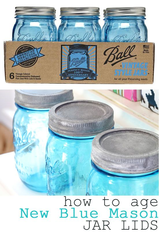 """If you like vintage blue canning jars and scour flea markets and yard sales to find them, you will be excited to know that Ball, the maker of the vintage jars, has just released a limited edition of the blue jars to commemorate the 100th anniversary of the """"Perfect Mason Jar"""".  The American Heritage Collection jars are being sold 6 to a package."""