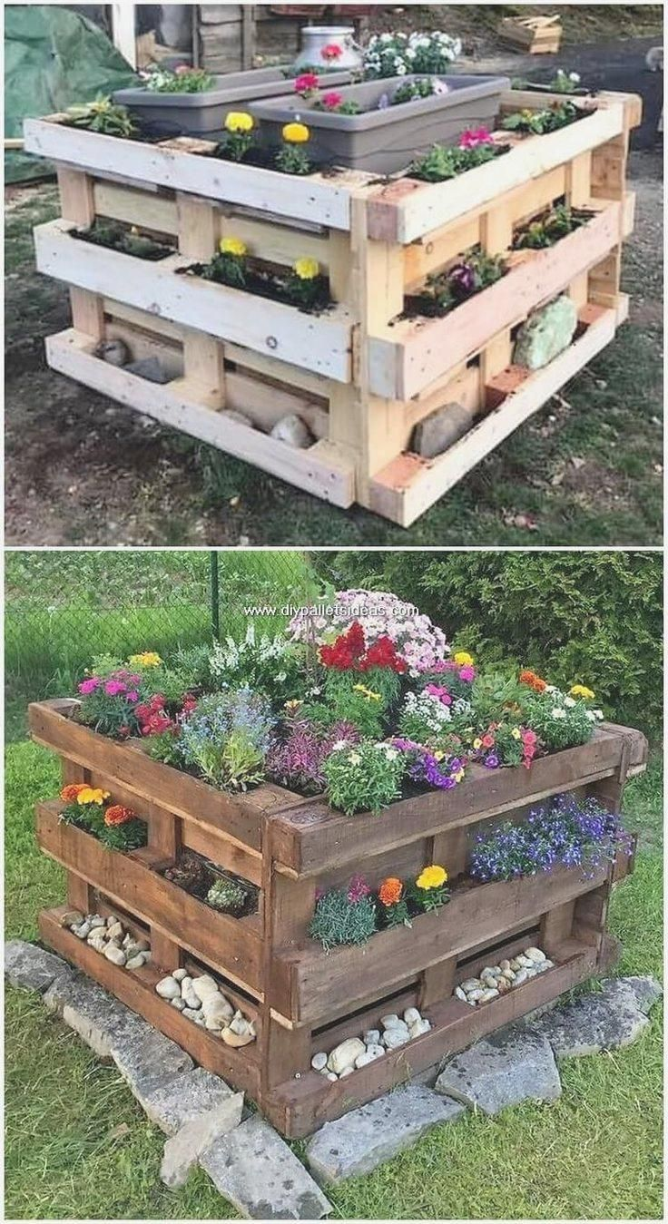 Light and simple craft ideas for wooden pallets #diy #diygarden