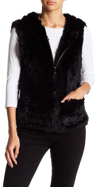 Love Token Genuine Rex Rabbit Fur Vest