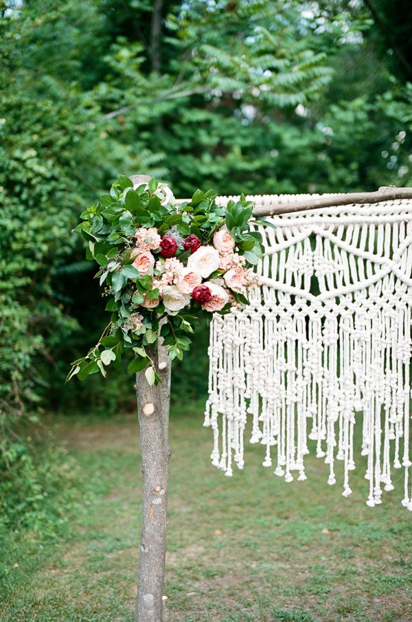 bohemian wedding arch decoration with macrame details 2015