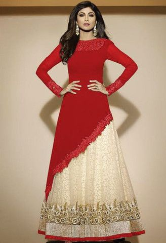 Red Georgette Lehenga Salwar Kameez..@ fashionsbyindia.com #designs #indian #fashion #womens #style #cloths #stylish #casual #fashionsbyindia #punjabi #suits #wedding #salwar #kameez #chic #outfits #anarkali #bridal #elegance #beauty #fantasy