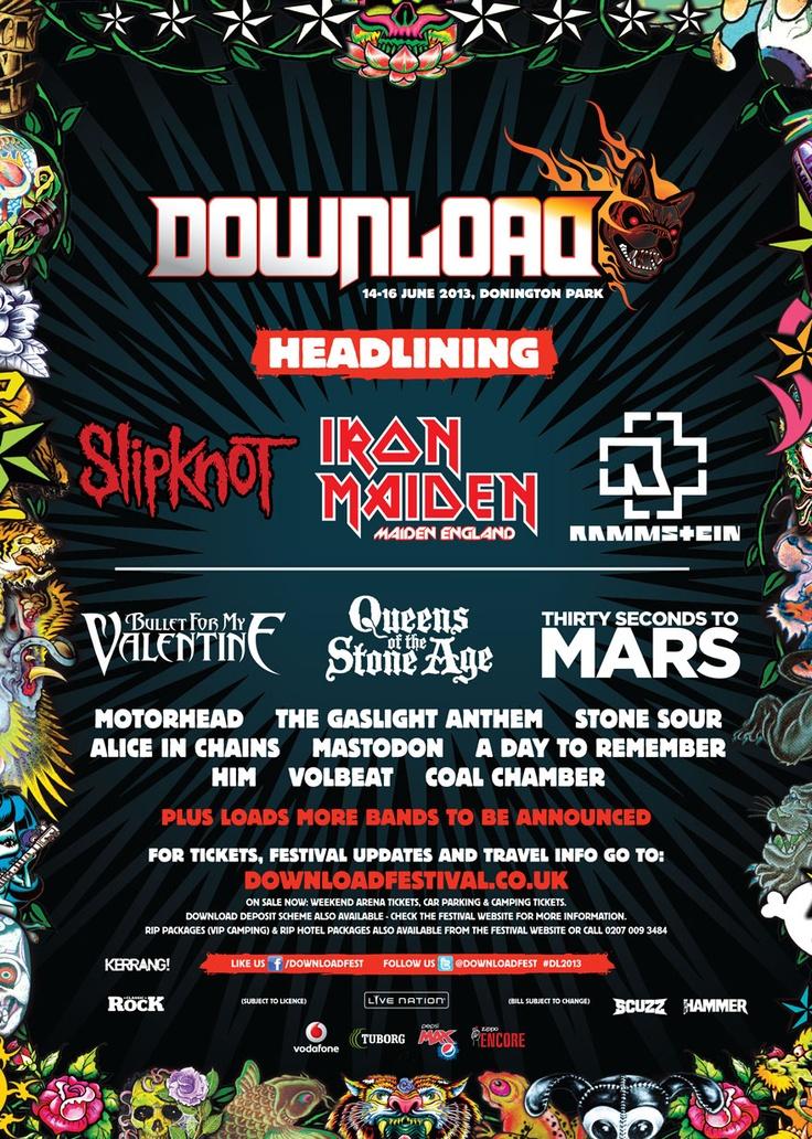 Download Festival 2013 Line Up   Official Download Festival Line Up
