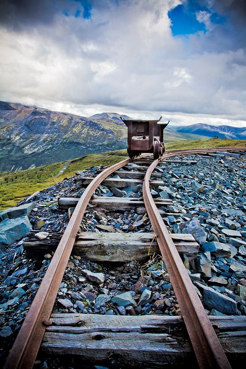 Historic mine car at the 700 Mine, Keno Hill, Yukon, Canada by Nicolas Dory.