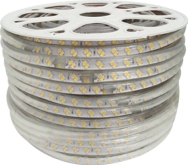 Intensitatea luminoasa a BENZII LED 120x5730 14W ALB CALD 220V este data de cele 120 LED-uri 5730 dispuse pe fiecare metru, cu putere de 14W/m. Necesita alimentare la tensiune 220V printr-o mufa speciala pe care o gasiti in oferta noastra. Pret lei/m.