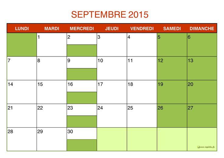 calendrier scolaire 2015 2016 à imprimer au format A3 ou A4 - GRANDE SECTION