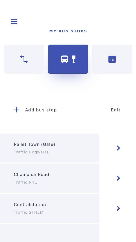 Traffic (Bus) App 포인트색 활용