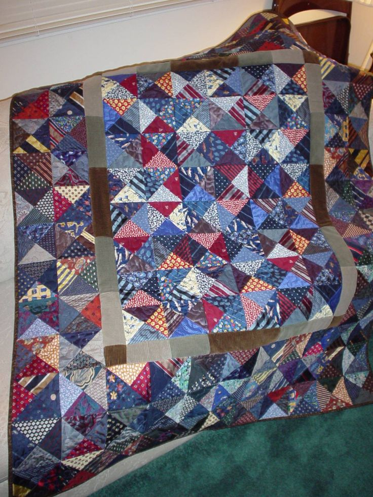 21 best Quilting- Men s Necktie Memory Quilts images on Pinterest