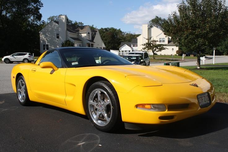 2001 Corvette Coupe Millennium Yellow With Black