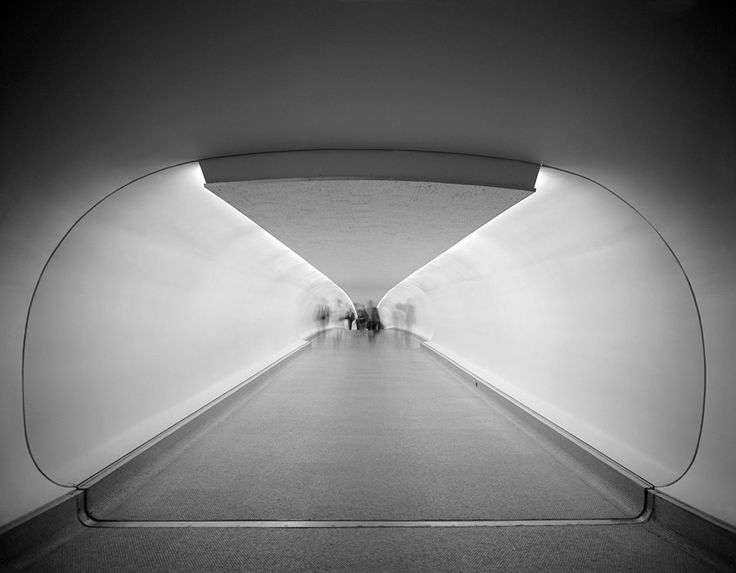 TWA Terminal at Idlewild (now JFK) Airport, Eero Saarinen, New York, NY, 1962  Gelatin Silver Print