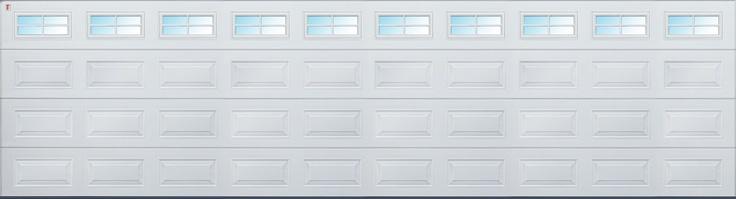 An 8 metre - (that's over 26 feet wide) Carteck Sectional Garage Door