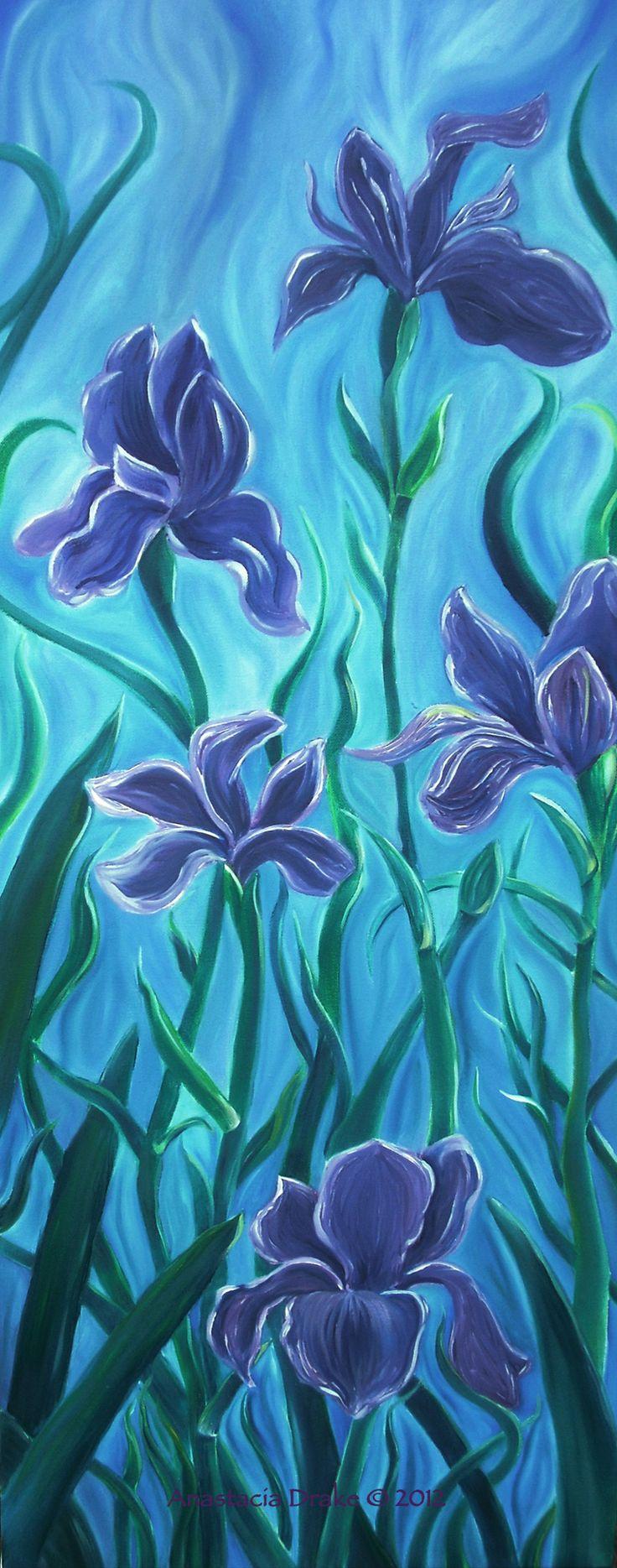 Iris Dance, Oil on Canvas #art #painting #strokeofredstudio