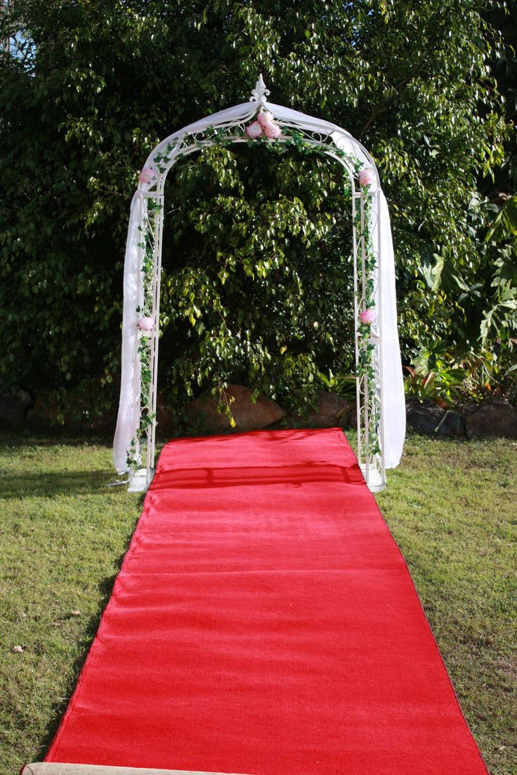 Arch and Red Carpet