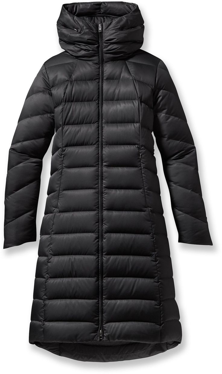 Patagonia Downtown Loft Parka - features down insulation and a satin  polyester shell that is durable and water repellent from REI