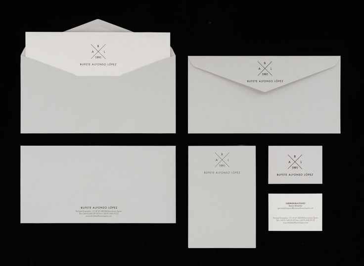 Very simple design of stationary, compliment slip portrait, think this could have been carried through the design but still like the simplicity and sleekness of this set