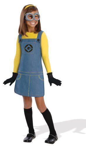 Despicable Me 2 Deluxe Girls Minion Costume, Medium