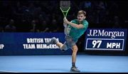David Goffin stuns Roger Federer in the semi-finals of the Nitto ATP Finals, advancing to Sunday's championship match.