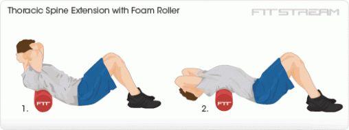 Image result for Upper Back (Thoracic Spine) Roll