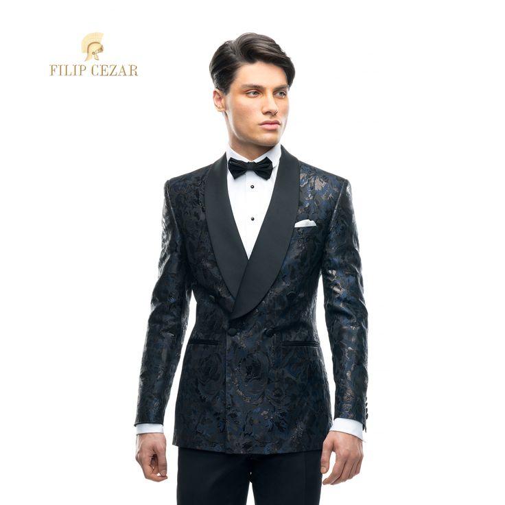 Sacou de ceremonie realizat la comanda Filip Cezar Fancy Blue  http://www.filipcezar.com/ro/sacouri-la-comanda/299-sacou-filip-cezar-fancy-blue.html #FilipCezar #Bespoke #Suits #Costume