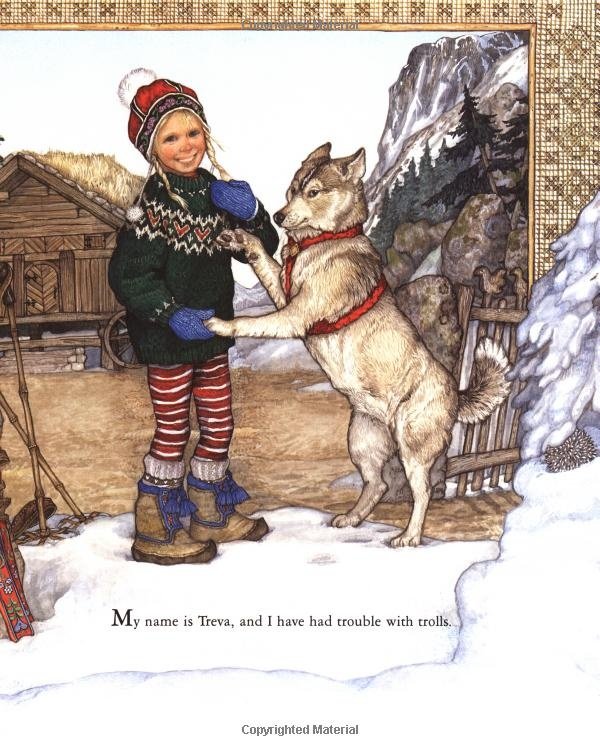 Jan Brett illustrations - the trouble with Trolls...