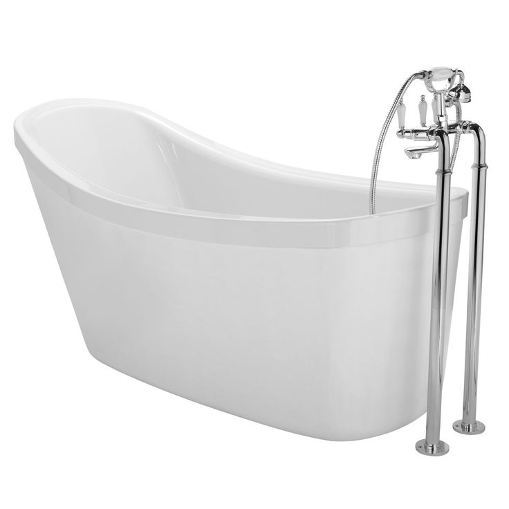 Cooke & Lewis Duchess Acrylic Oval Freestanding Bath (L)1500mm (W)810mm | Departments | DIY at B&Q