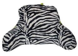 The Plush Zebra Bedding Backrest - Lime