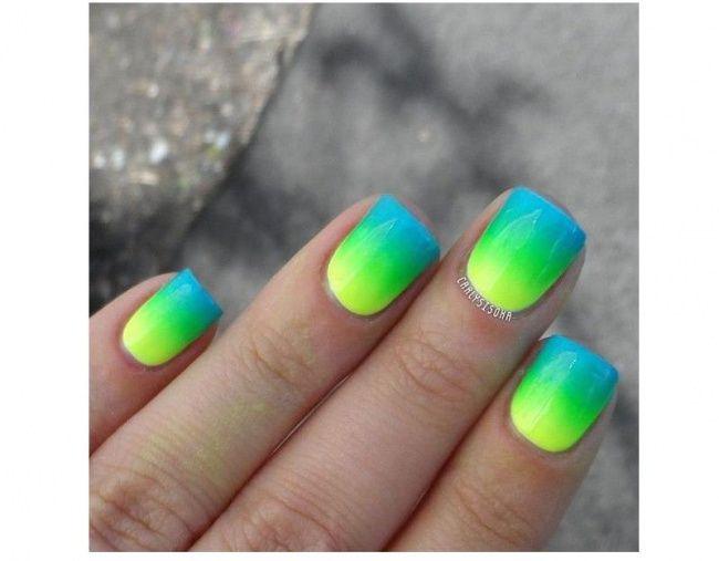 Neonowy manicure ombre - super pomysły na kolorowe paznokcie - Strona 16