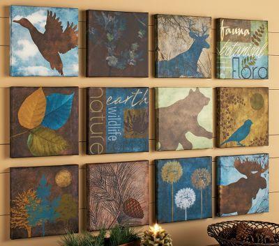 Cabela's 12-Piece Wildlife Forest Canvas Art