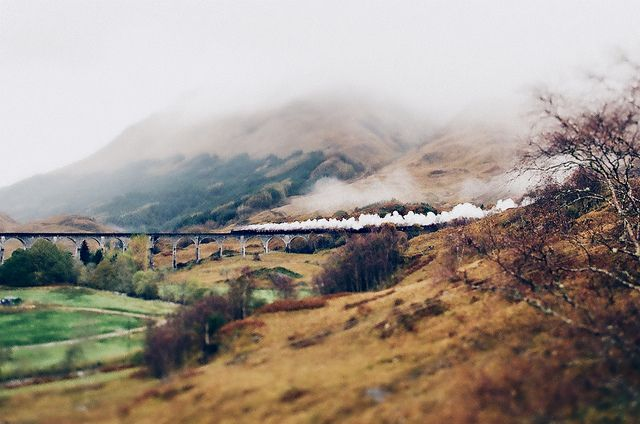 Didn't take the steam train, but I did do the West Highland Line ... amazing.