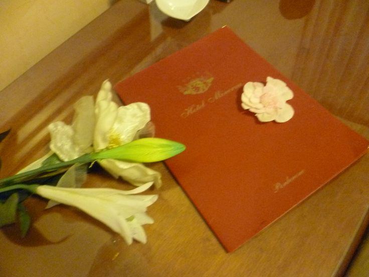 Il folder per leggere le informazioni dell'Albergo