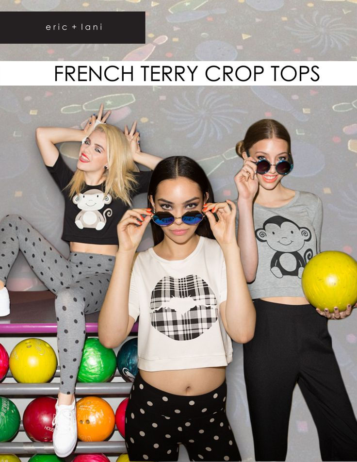 eric and lani french terry crop tops. click through to shop!