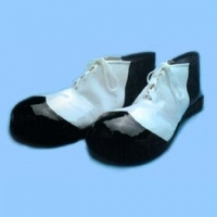 Black and White Vinyl Clown Shoes: $27.00
