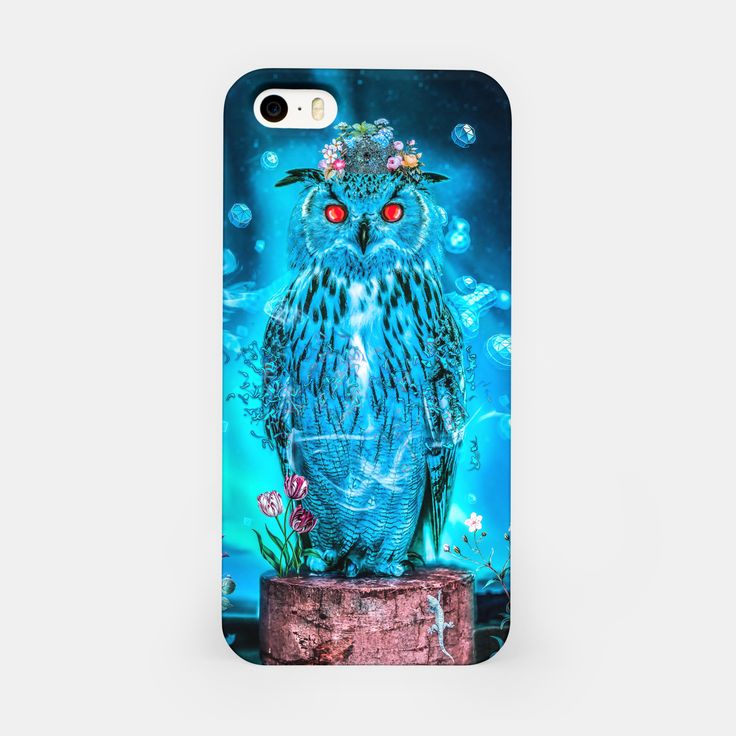 Sapphire Owl iPhone Case, Live Heroes