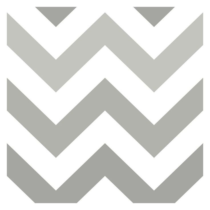 Brewster Home Zig Zag Grey Peel and Stick Wallpaper - NU1934