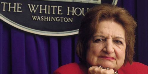 7-20-13 Longtime White House correspondent Helen Thomas has died, sources tell CNN's Candy Crowley and John King. Thomas was 92. Thomas was considered the dean of the White House press corps, as she was the longest-serving White House journalist. She reported on administrations since 1960, when she began covering then-President-elect John F. Kennedy and his family. Thomas retired in 2010 after she made controversial comments regarding Jewish people.