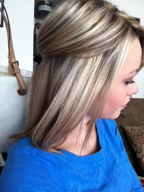 Highlights and low lights - this is perfect!!! Love that shade of blonde and the lowlights!!