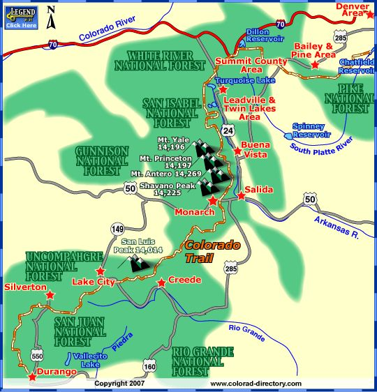 Best Hiking Recreation Maps Images On Pinterest Trail Maps - Colorado waterfalls map