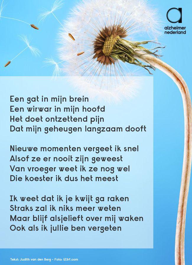 Blijf over mij waken, ook als ik jullie ben vergeten #gedicht #dementie #alzheimer
