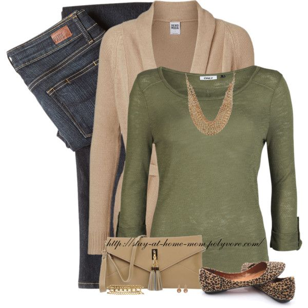 """""""Leopard Flats & Olive Top"""" by stay-at-home-mom on Polyvore"""