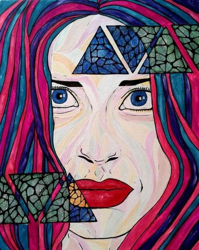 Art space deawing by atatay Girl. Eays. Арт рисунок. Девушка. Глаза. Губы. Космос внутри.