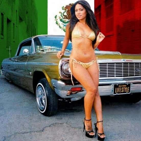 lowrider with naked babe