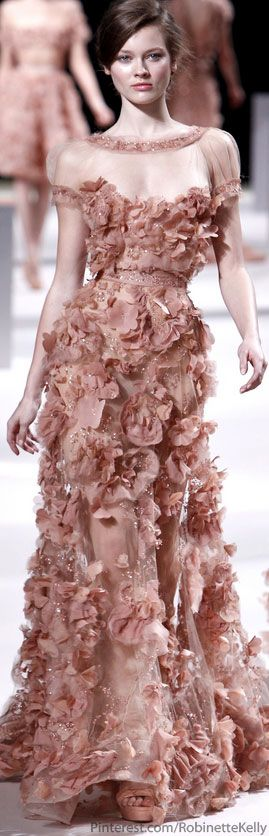 Elie Saab Haute Couture S/S 2011 - floral appliques are in stores for the rest of us now