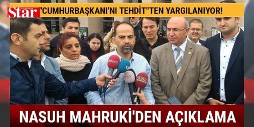 """Nasuh Mahrukiden açıklama: Pişmanım : """"Cumhurbaşkanını tehdit""""ten yargılanan Mahruki serbest bırakılmasının ardından yaptığı açıklamada Cumhurbaşkanının adını zikretmedim. Ama öbür konuk onu oradan anladı dedi.  http://ift.tt/2dDtB27 #Türkiye   #Mahruki #Cumhurbaşkanı #zikretmedim #adını #açıklamada"""