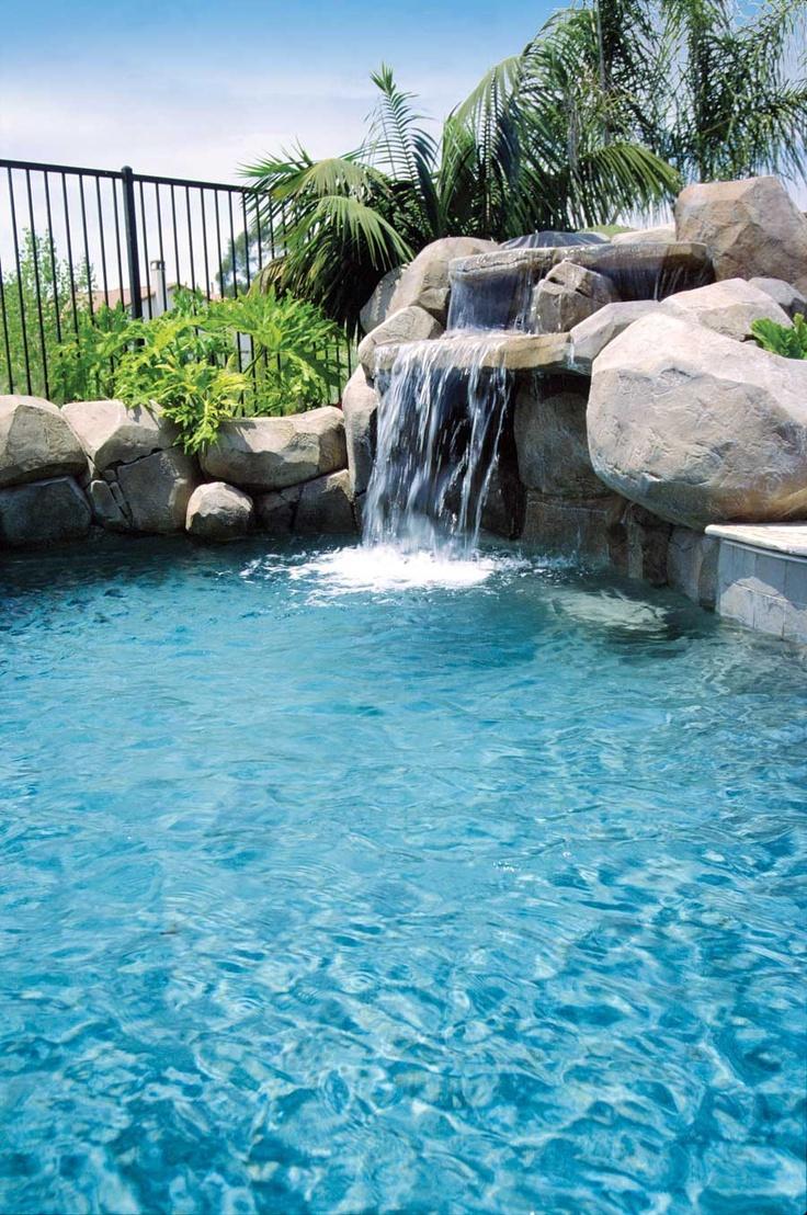 8 best cascadas para piscina images on pinterest - Piscinas con cascada ...